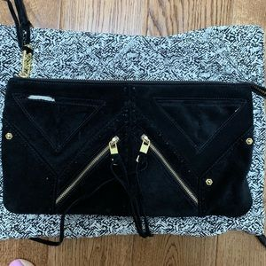 Handbags - Rebecca minkoff black suede clutch